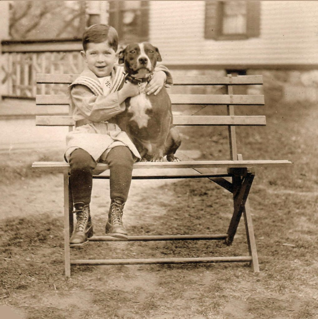 Boy on Bench Front