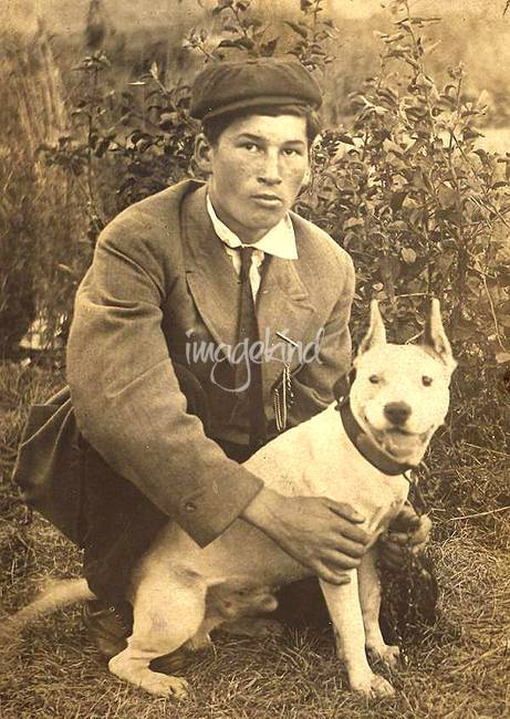 Vintage-image-of-Boy-with-White-Pitbull_art