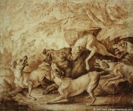 bullenbeissersBoar Hunt Joseph Georg Wintter1789